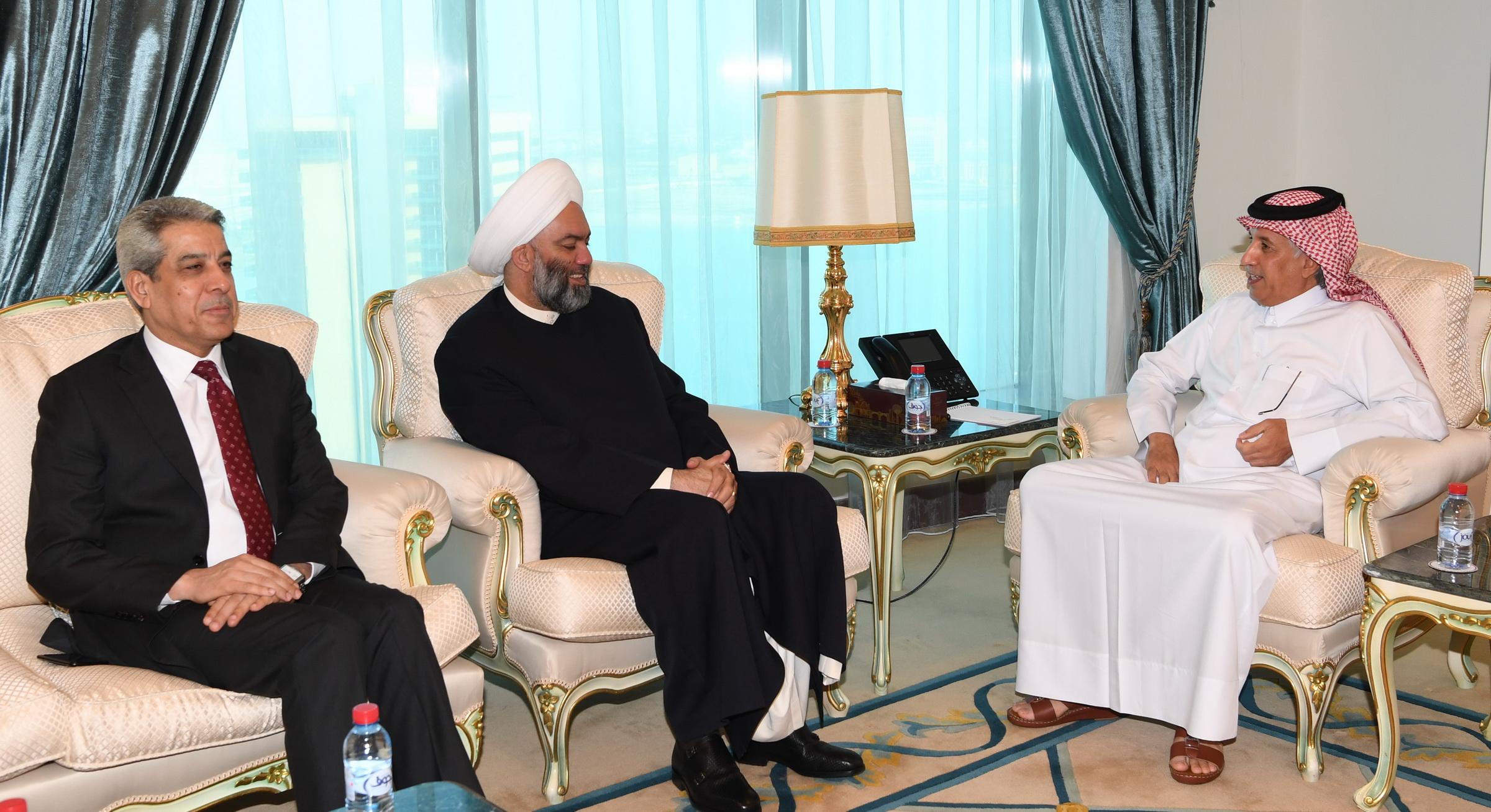 وزير الدولة للشؤون الخارجية يجتمع برئيس جماعة علماء العراق