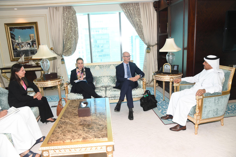 الأمين العام لوزارة الخارجية يجتمع مع مسؤول بحلف الناتو