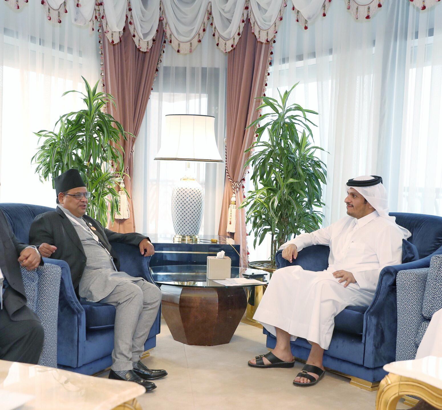 نائب رئيس مجلس الوزراء وزير الخارجية يجتمع مع مسؤولين برلمانيين من سريلانكا ونيبال والسويد وألمانيا