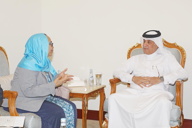 وزير الدولة للشؤون الخارجية يجتمع مع سفيرة أثيوبيا