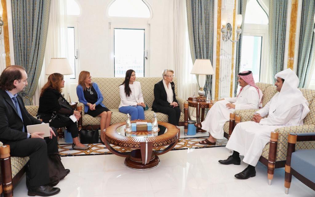 نائب رئيس مجلس الوزراء وزير الخارجية يجتمع مع وفد البرلمان الأوروبي للعلاقات مع شبه الجزيرة العربية