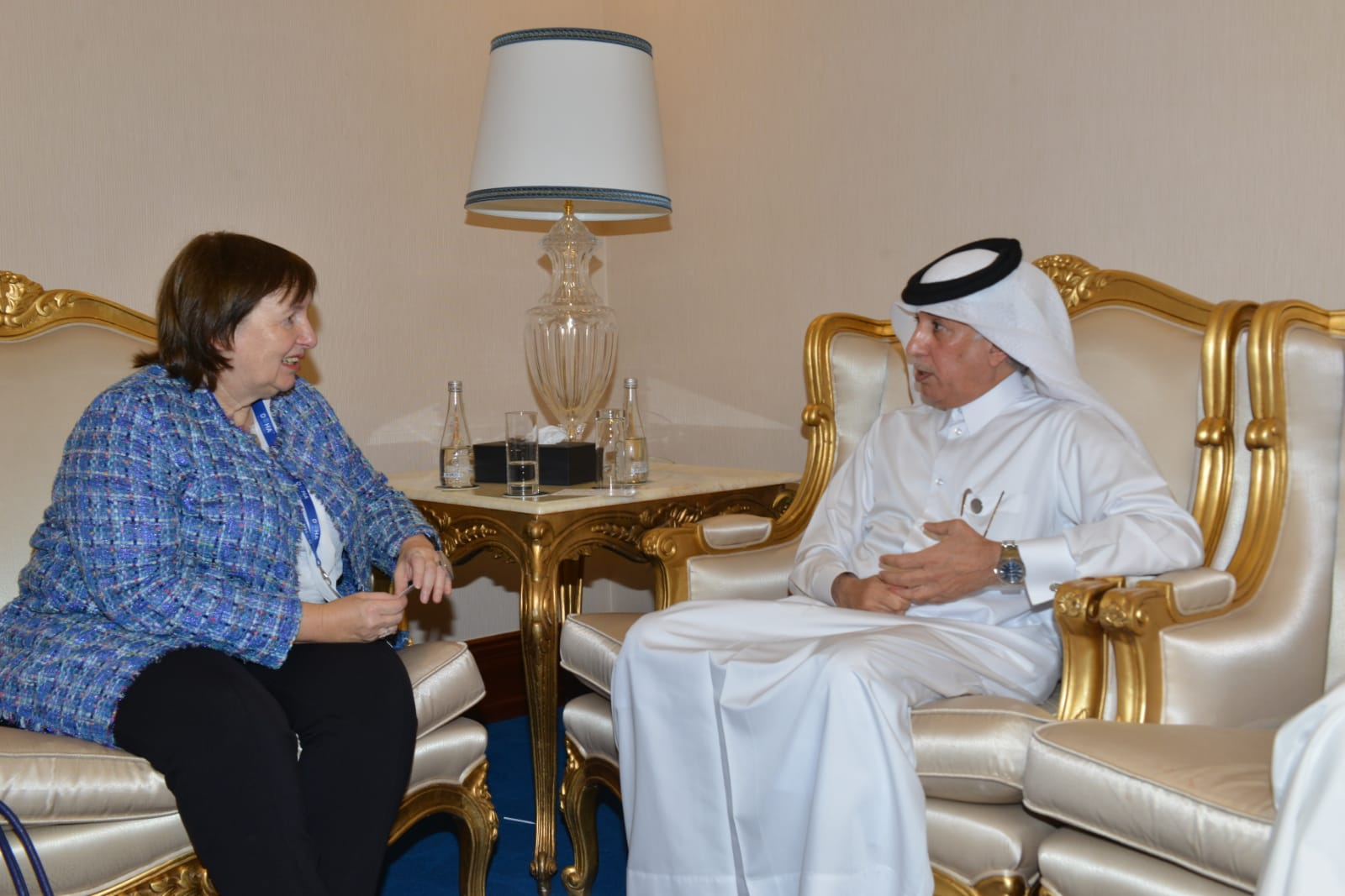 وزير الدولة للشؤون الخارجية يجتمع مع مسؤولتين أوروبية وأممية