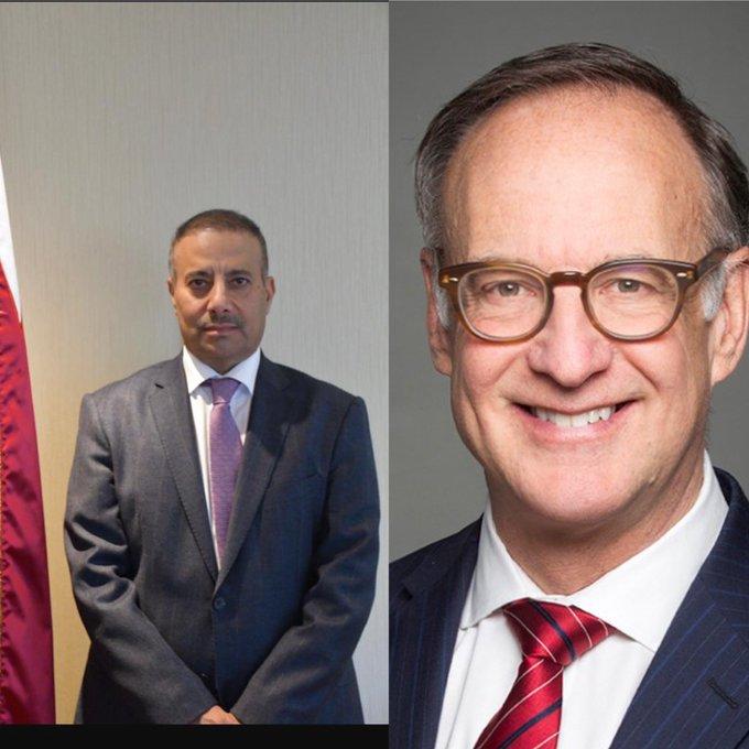 سفير قطر يتلقى اتصالا هاتفيا من السكرتير البرلماني لوزير الخارجية الكندي