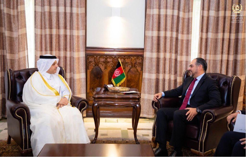 وزير خارجية أفغانستان يتسلّم نسخة من أوراق اعتماد سفير قطر
