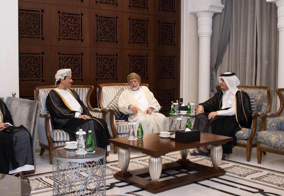 نائب رئيس مجلس الوزراء وزير الخارجية يعقد جلسة مباحثات مع الوزير المسؤول عن الشؤون الخارجية بسلطنة عمان