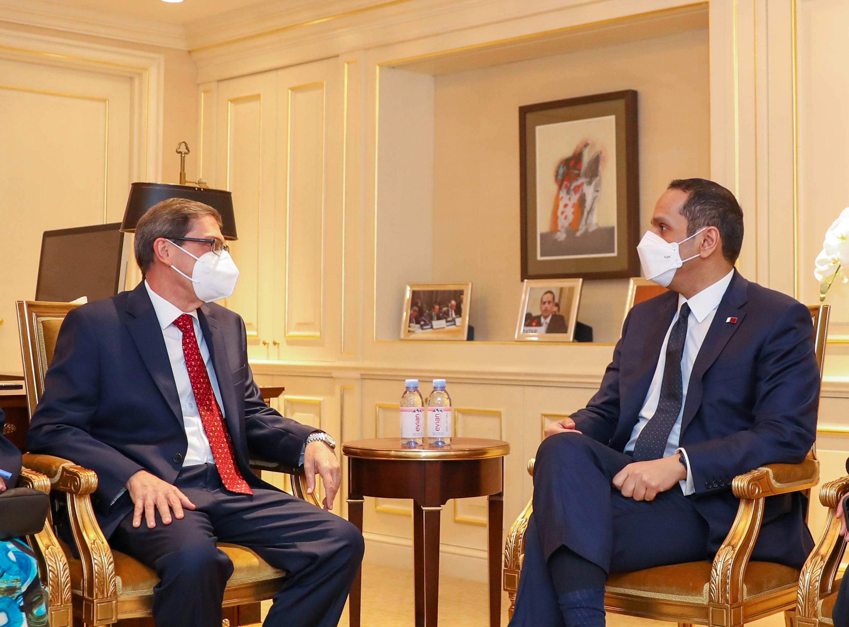 نائب رئيس مجلس الوزراء وزير الخارجية يجتمع مع عدد من المسؤولين على هامش الجمعية العامة للأمم المتحدة