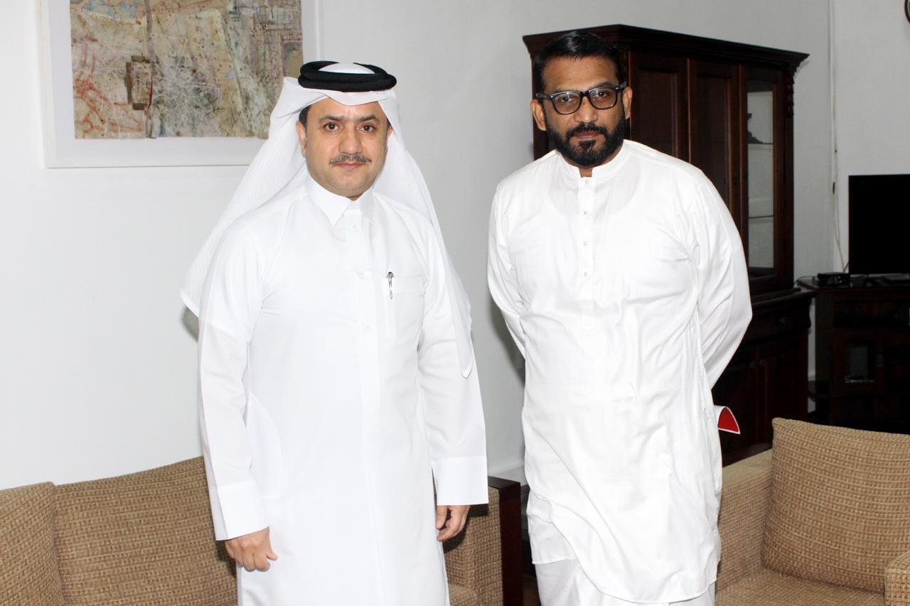 وزير الدولة للتعاون الإقليمي بوزارة خارجية سريلانكا يجتمع مع سفير دولة قطر
