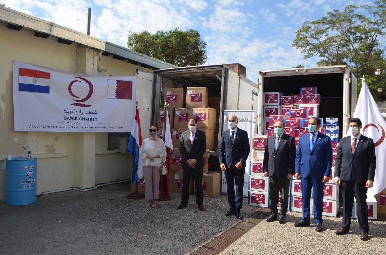 سفارة دولة قطر تسلم معدات طبية مقدمة من قطر الخيرية إلى الباراغواي