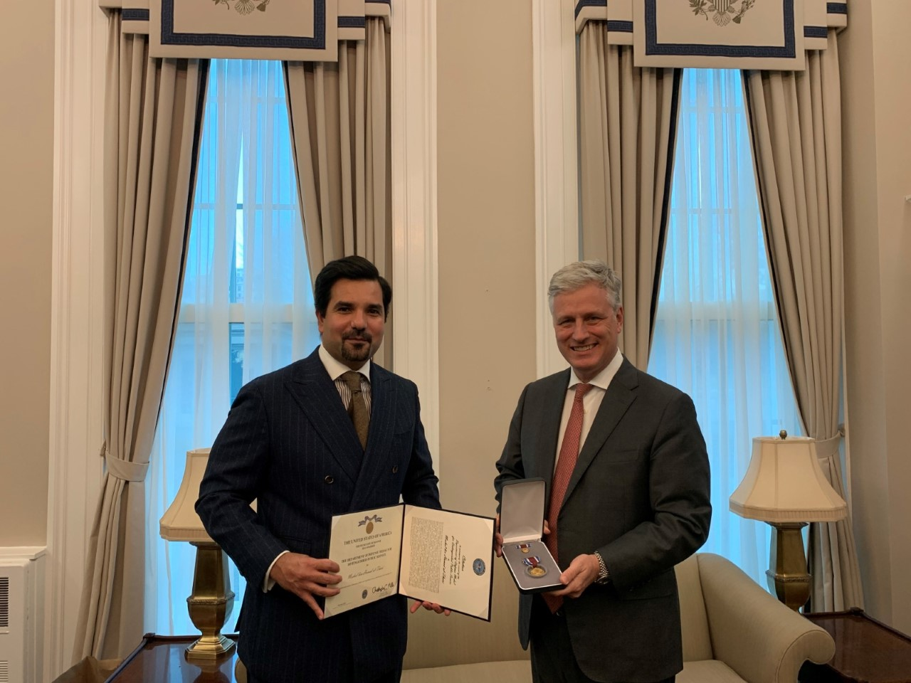 Deputy Prime Minister and Minister of Foreign Affairs Receives US Highest Medal for Distinguished Public Service