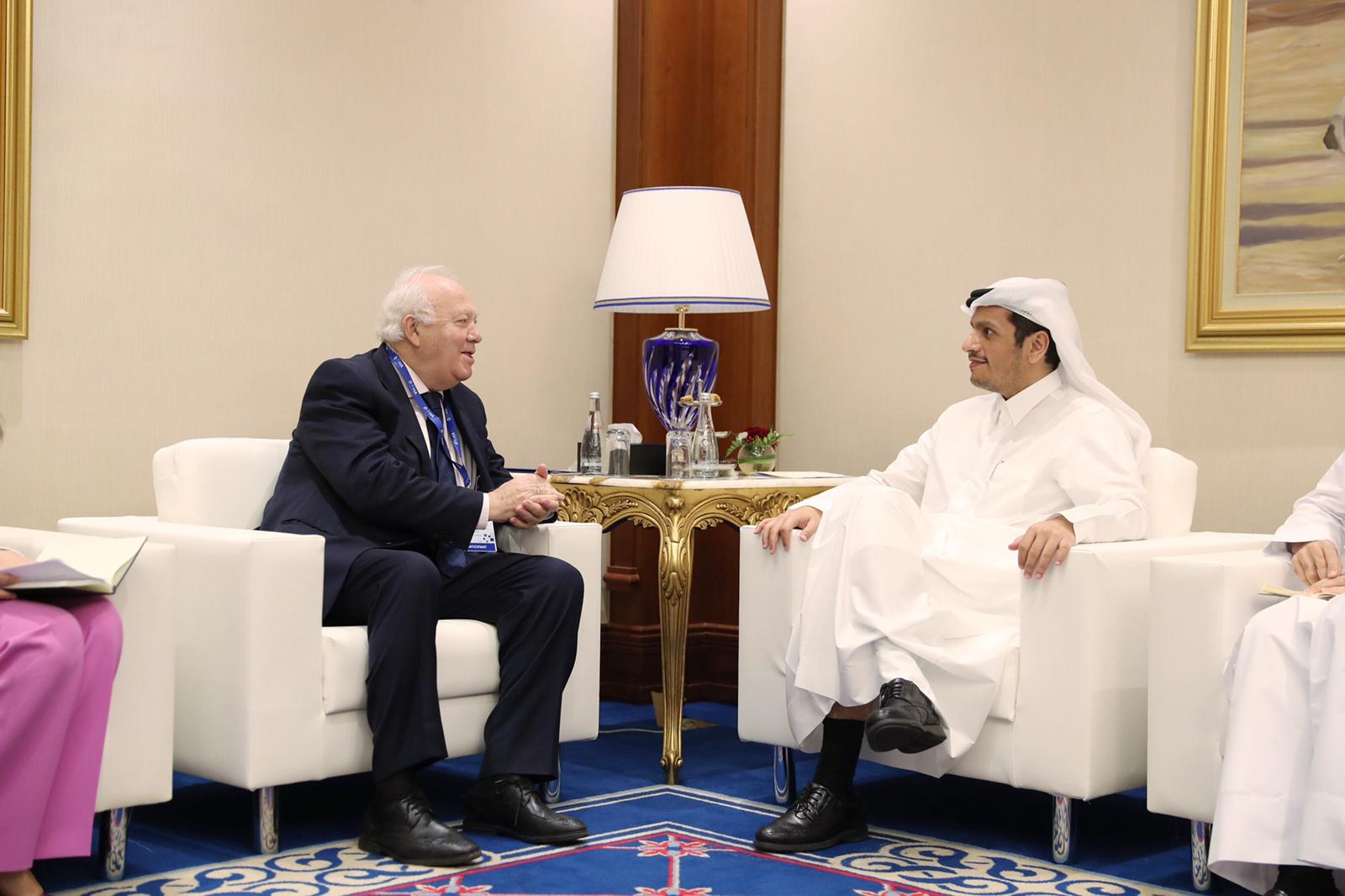 Deputy Prime Minister and Minister of Foreign Affairs Meets Several Officials on Margin of Doha Forum