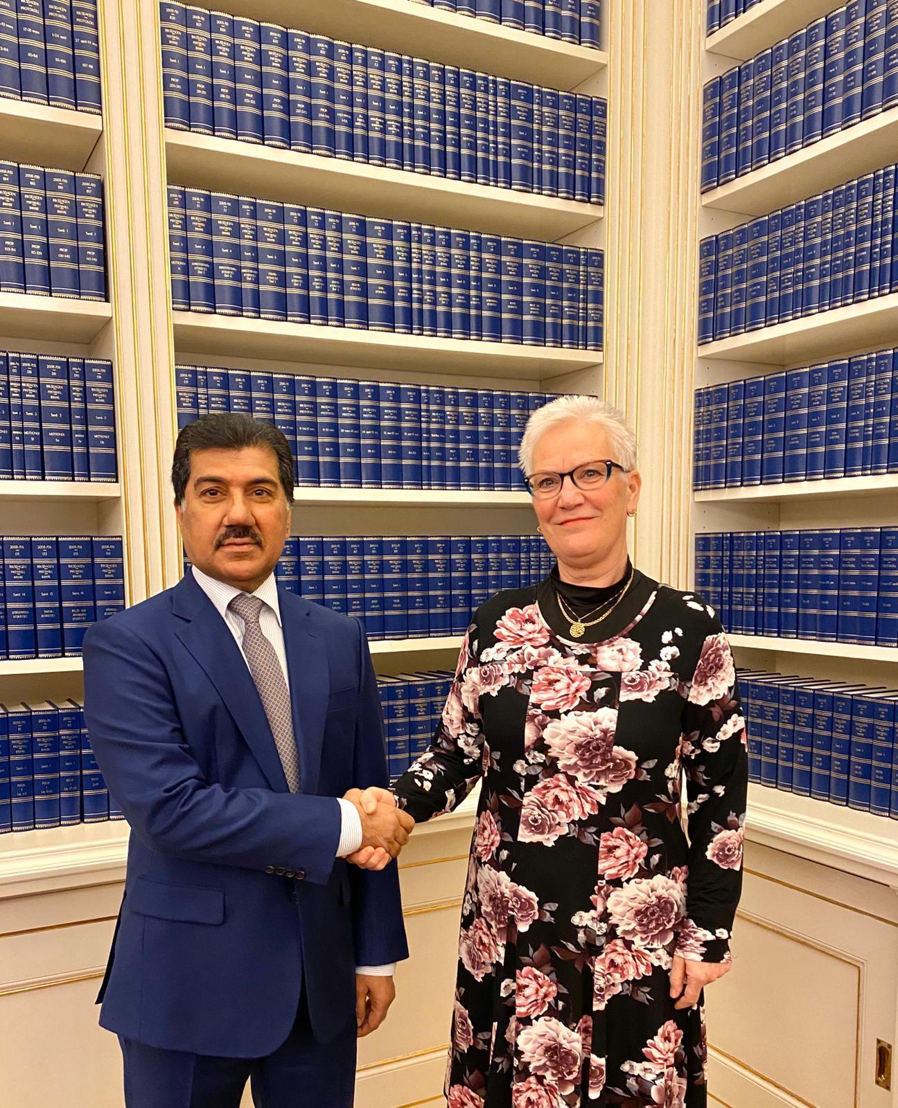 الأمين العام لوزارة الخارجية يجتمع مع مسؤولة سويدية