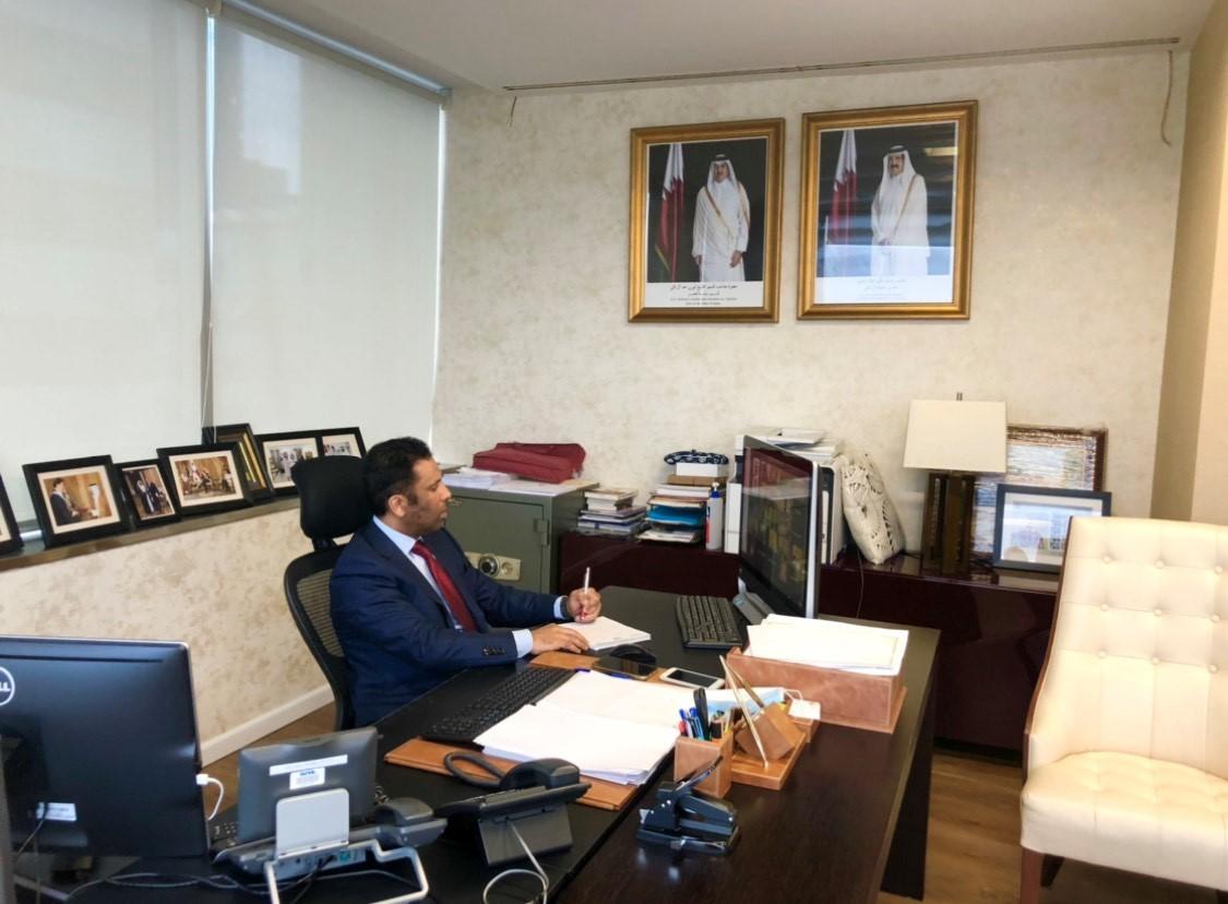 سفير دولة قطر لدى بنما يشارك في ندوة حول تداعيات فيروس كورونا