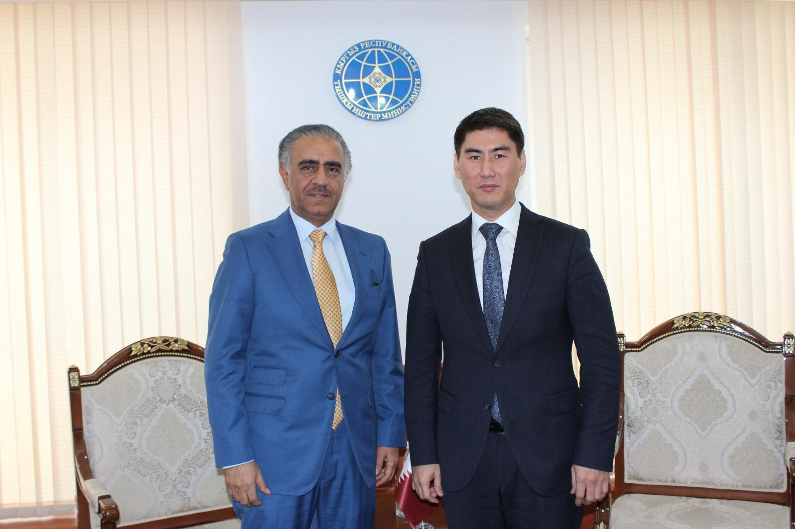 Minister of Foreign Affairs of the Republic of Kyrgyzstan Meets Qatari Ambassador