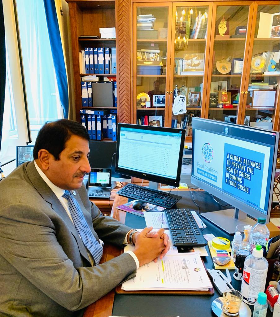 دولة قطر تشارك في أعمال الملتقى الدولي الافتراضي رفيع المستوى حول كورونا