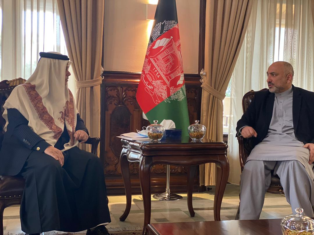 Minister of Foreign Affairs of Afghanistan Meets Ambassador of Qatar