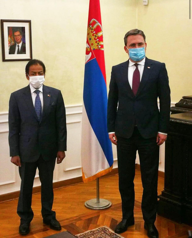 Serbian Foreign Minister Meets Qatar Ambassador