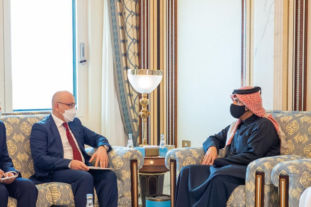 نائب رئيس مجلس الوزراء وزير الخارجية يجتمع مع نائب وزير خارجية أوزبكستان