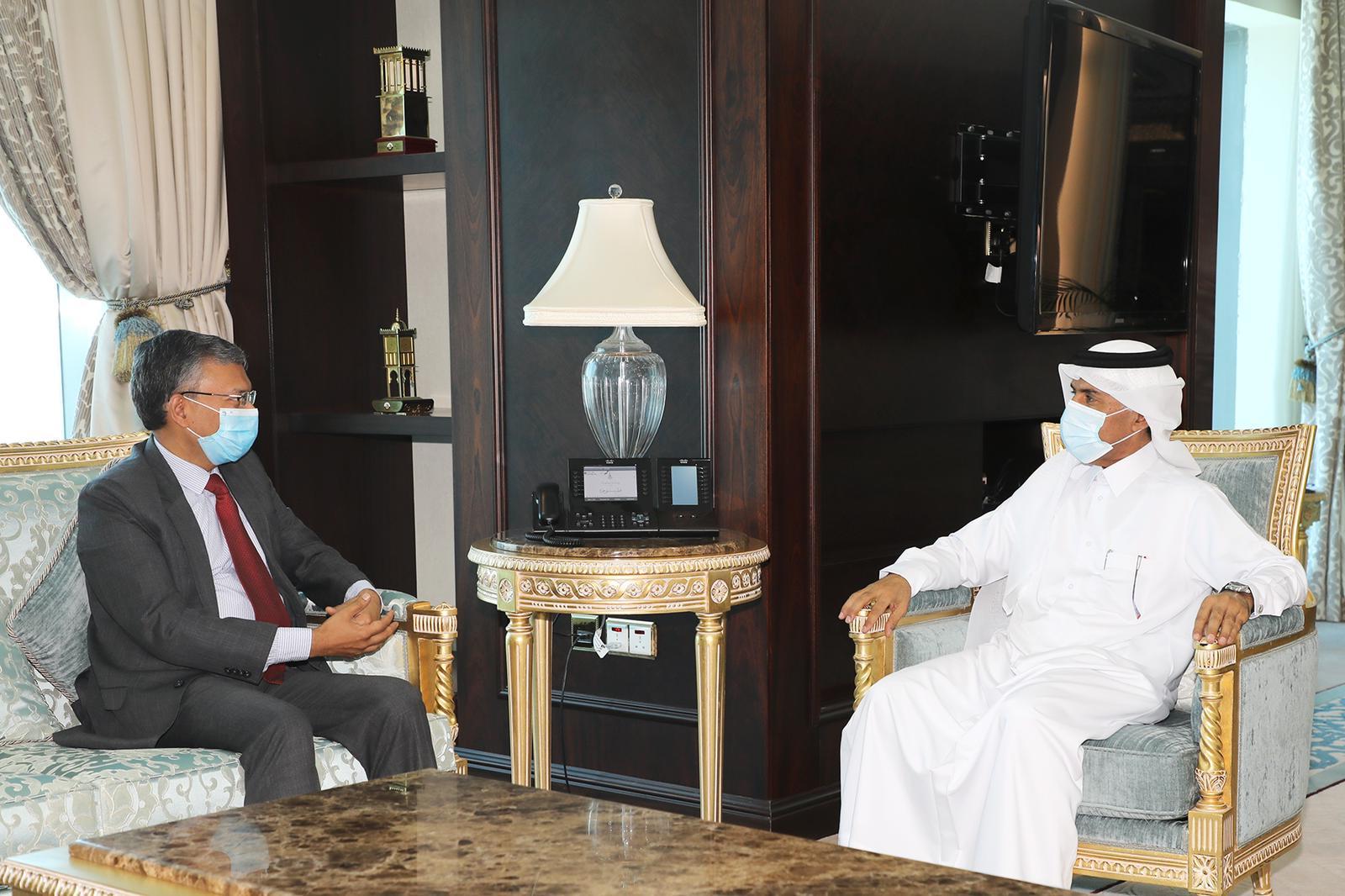 الأمين العام لوزارة الخارجية يجتمع مع سفير الهند