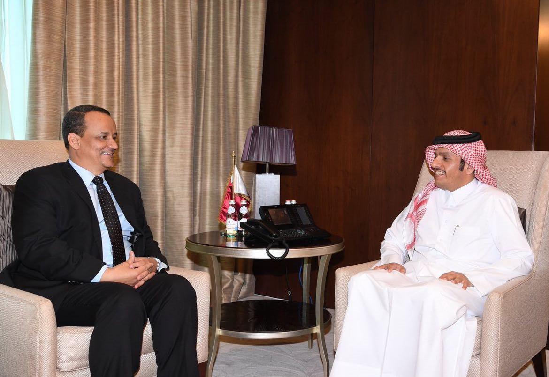 سعادة وزير الخارجية يلتقي المبعوث الأممي إلى اليمن