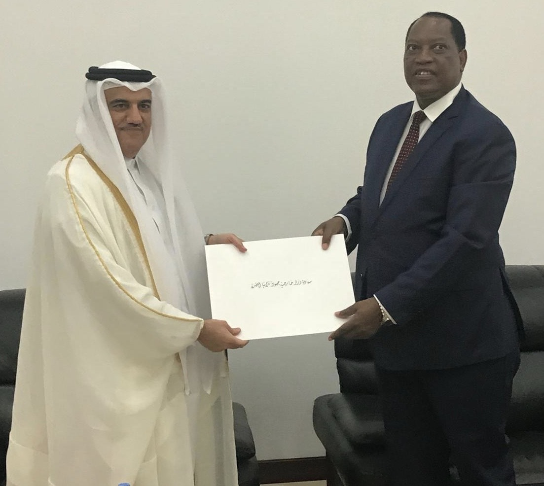 Tanzanian Foreign Minister Receives Copy of Qatar's Ambassador Credentials