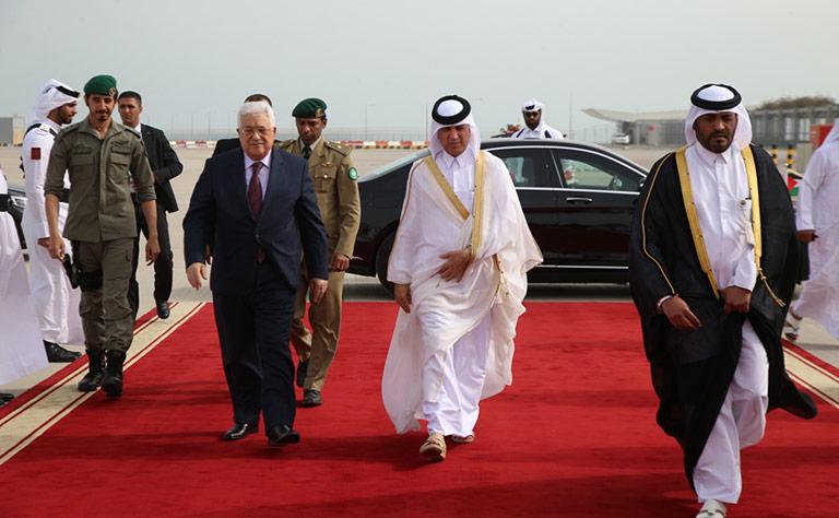 الرئيس الفلسطيني يغادر الدوحة