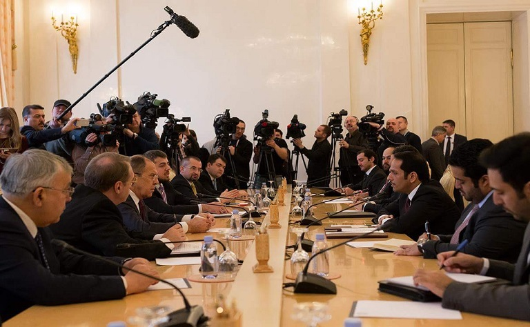 HE Foreign Minister Discusses with Russian Counterpart Economic and Investment Cooperation