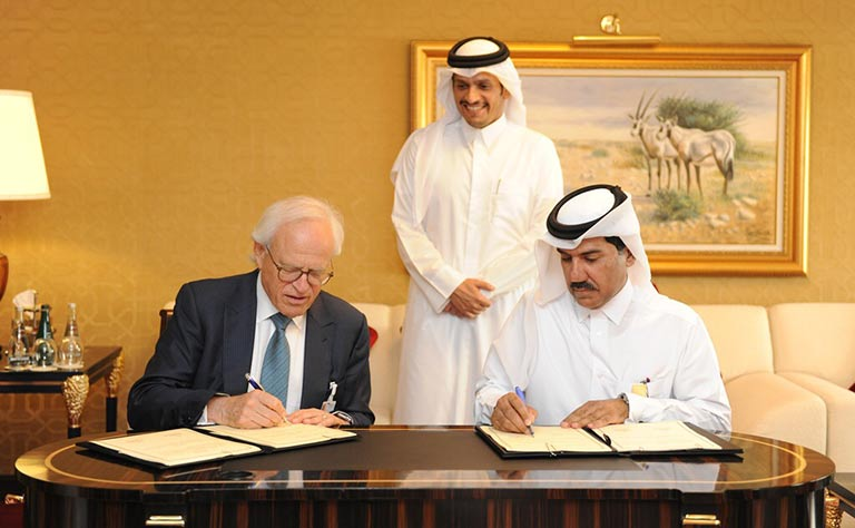 Qatar and Brookings Center Sign Agreement