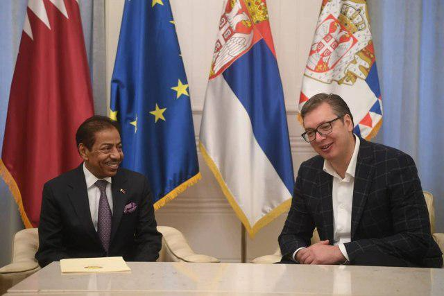 Serbian President Meets Qatar's Ambassador