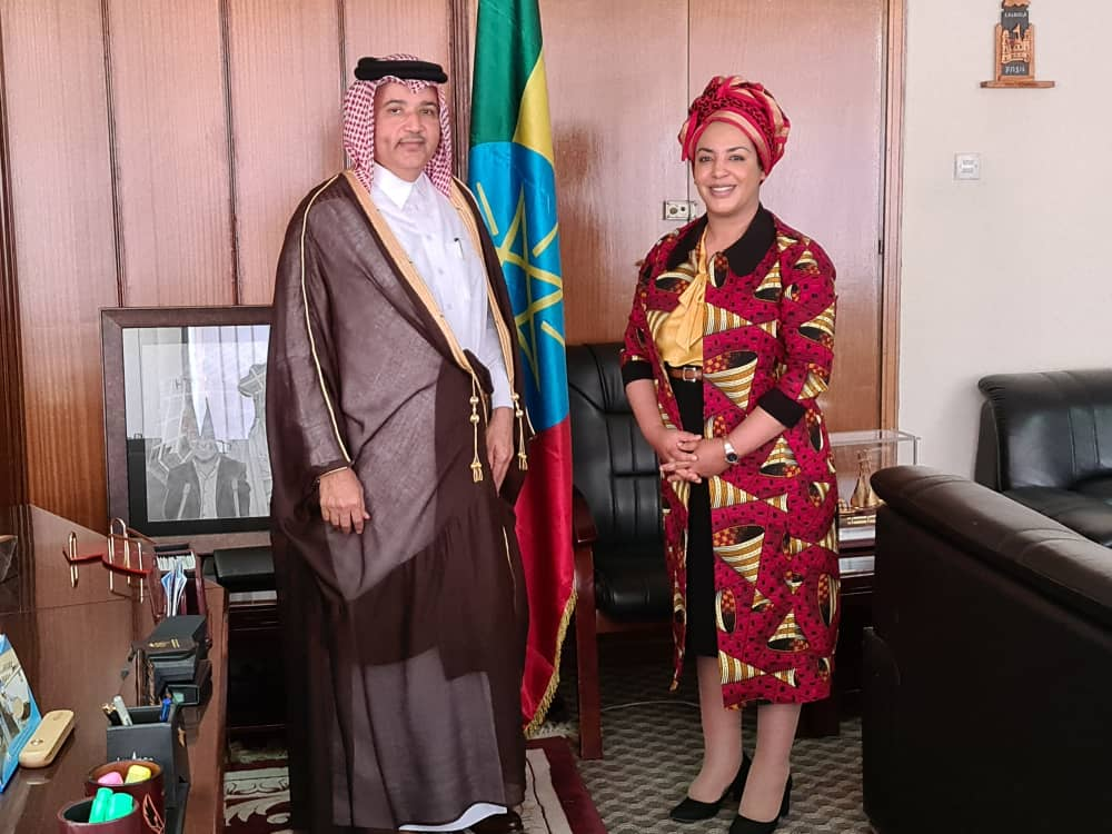 وزيرة العمل والشؤون الاجتماعية في إثيوبيا تجتمع مع سفير دولة قطر