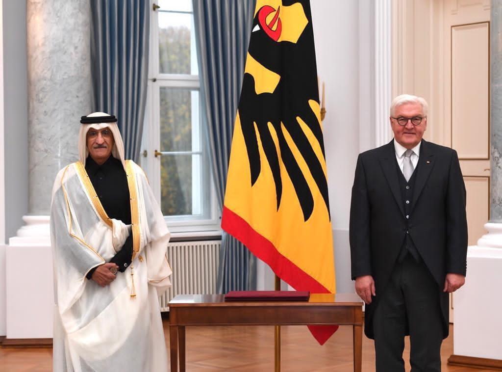 الرئيس الألماني يتسلم أوراق اعتماد سفير دولة قطر