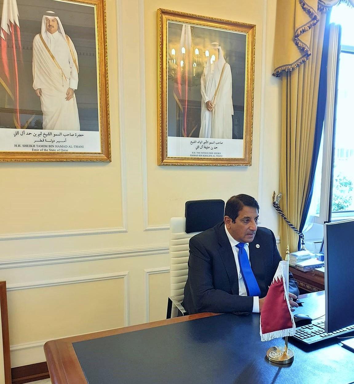 الأمين العام لوزارة الخارجية الإيطالية تجتمع مع سفير دولة قطر
