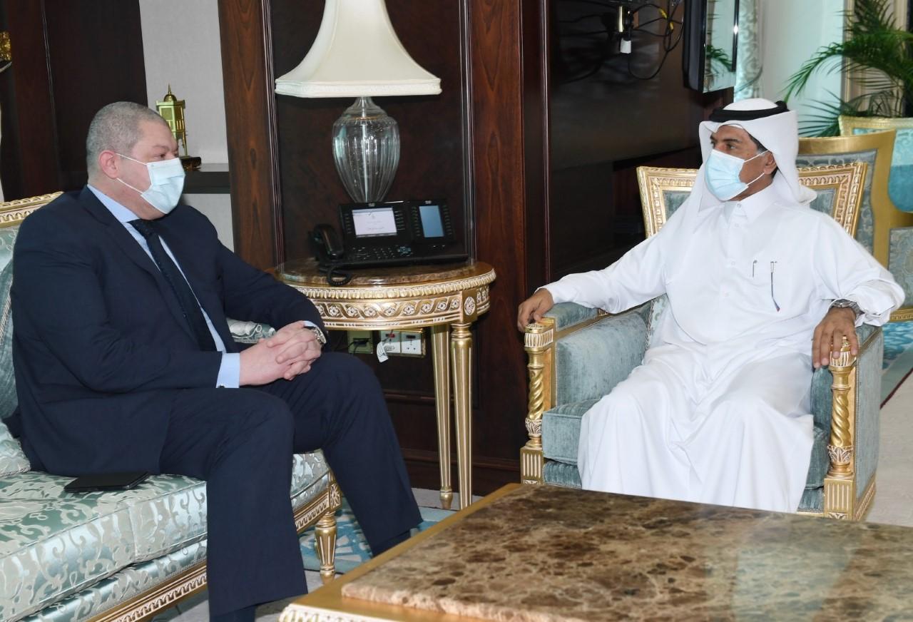 الأمين العام لوزارة الخارجية يودع القائم بالأعمال المصري