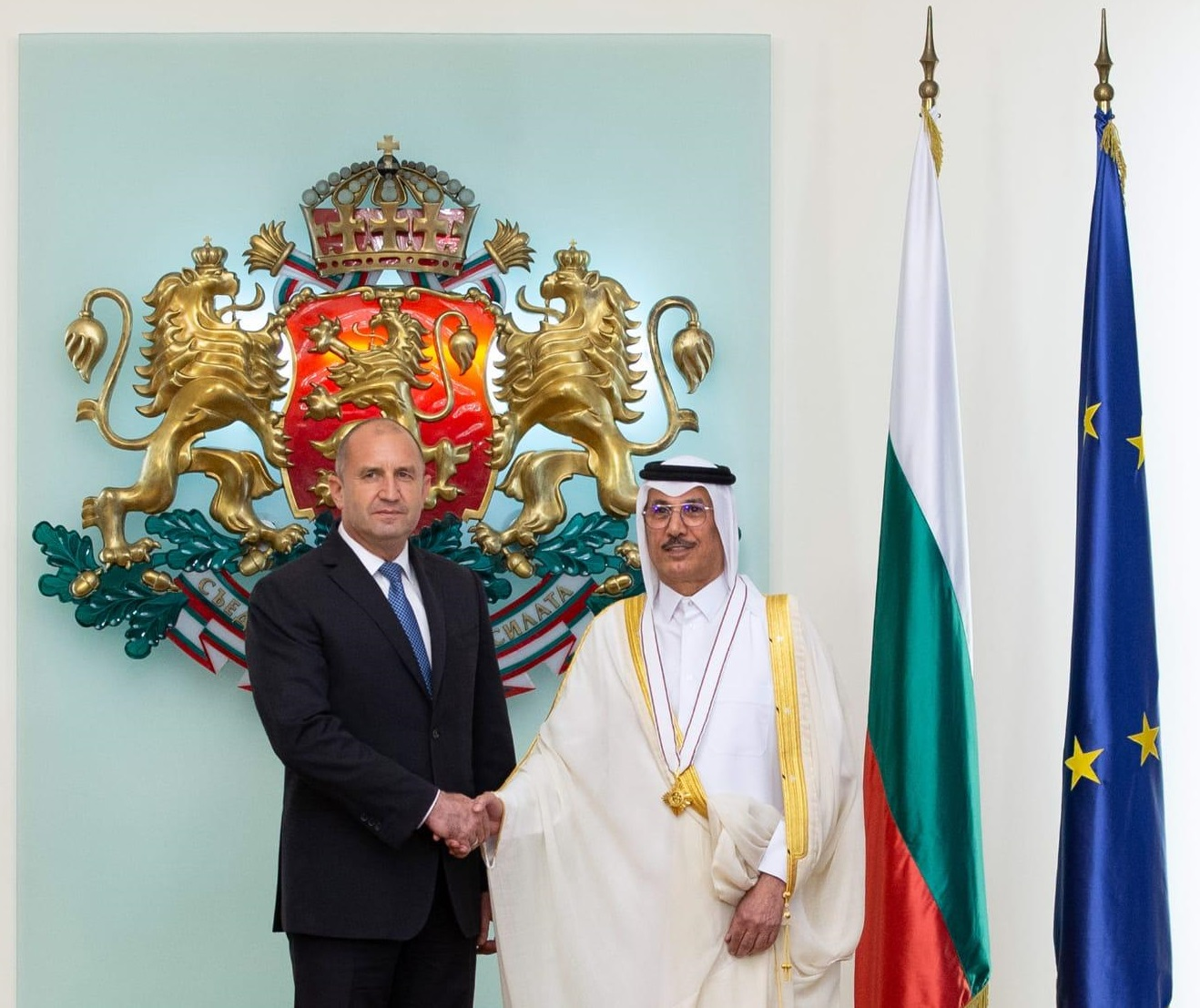 President of Bulgaria Meets Qatar's Ambassador