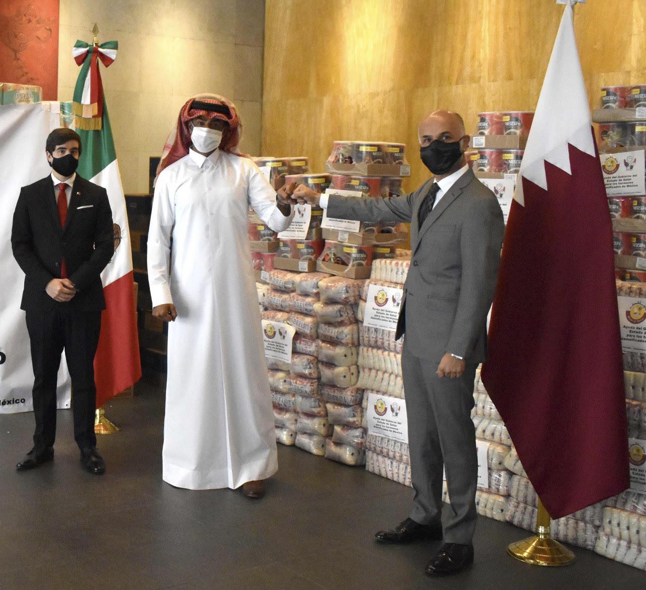 سفارة دولة قطر تسلم مساعدات إنسانية لمتضرري الفيضانات في المكسيك