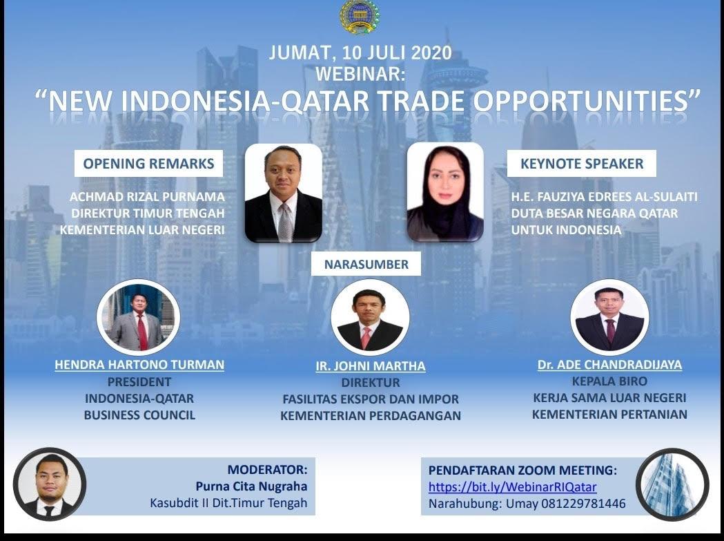 سفيرة قطر تشارك بندوة حول فرص التجارة الجديدة  مع اندونيسيا