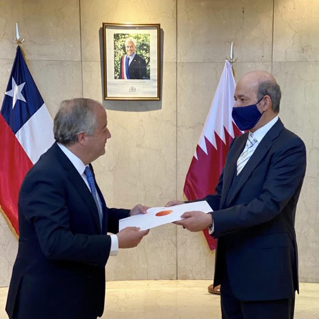 سفير تشيلي لدى الأرجنتين يتسلم نسخة من أوراق اعتماد سفير دولة قطر