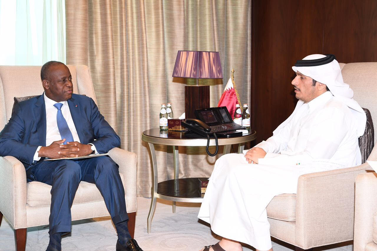 HH the Emir Receives Message from President of Ivory Coast