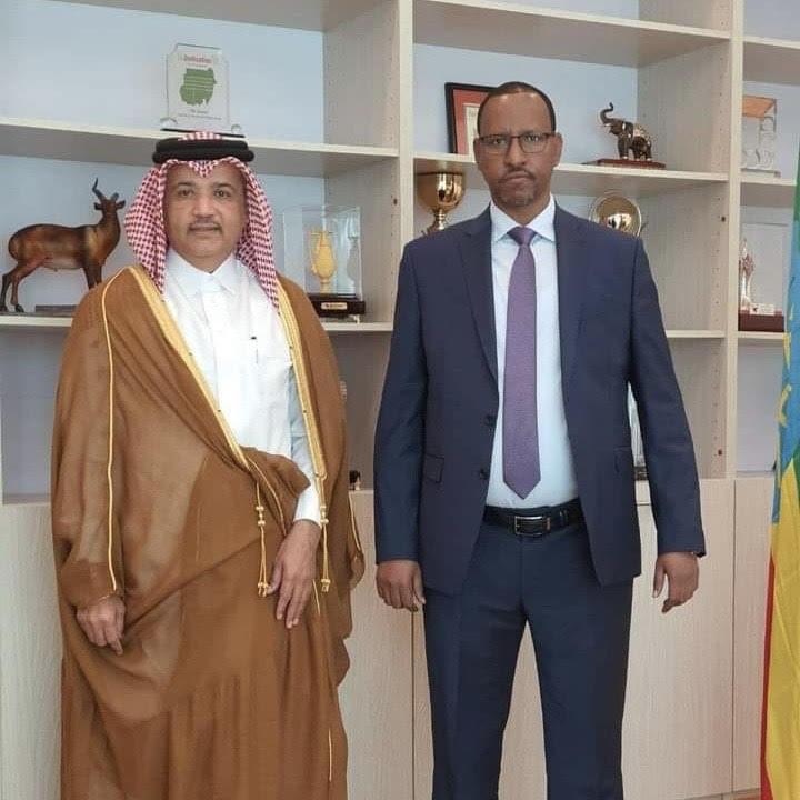 رئيس المجلس الفيدرالي الإثيوبي يجتمع مع سفير دولة قطر