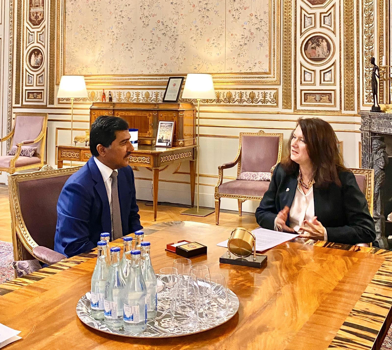 Secretary-General of the Foreign Ministry Meets Foreign Minister of Sweden