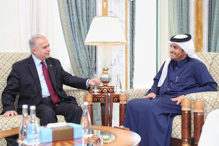 Deputy Prime Minister and Minister of Foreign Affairs Meets Foreign Minister of Iraq