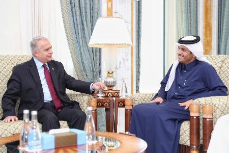 نائب رئيس مجلس الوزراء وزير الخارجية يجتمع مع وزير الخارجية العراقي