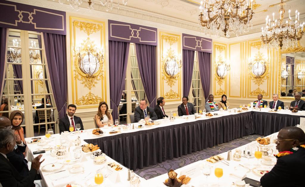 نائب رئيس مجلس الوزراء وزير الخارجية يستضيف عدد من الرؤساء ورؤساء الحكومات والوزراء على مائدة إفطار على هامش أعمال الجمعية العامة لأمم المتحدة الـ74