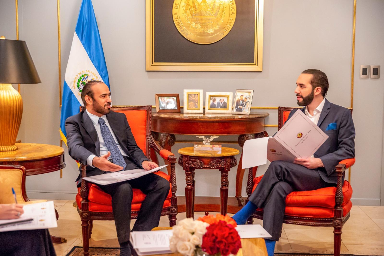 رسالة خطية من سمو الأمير إلى رئيس السلفادور