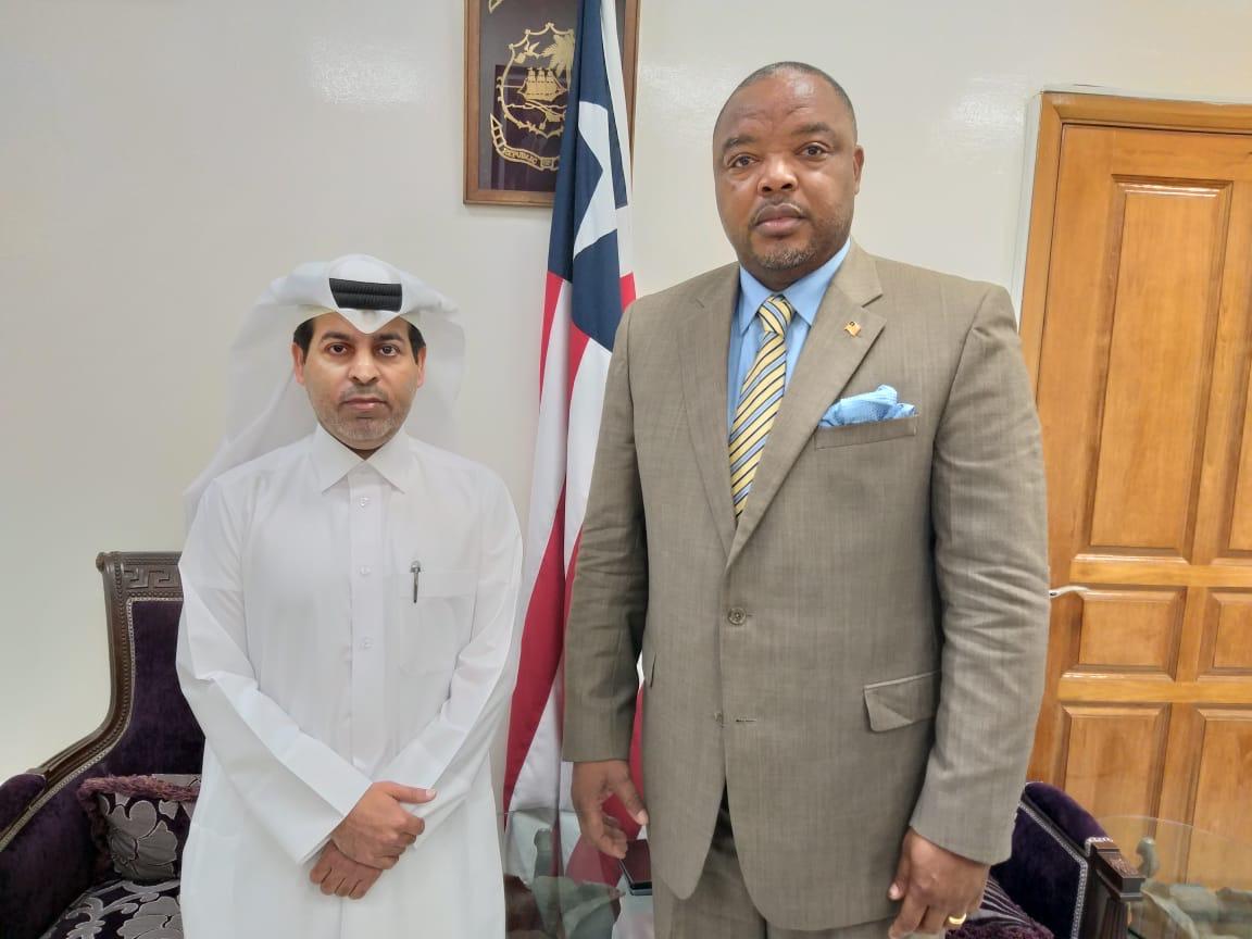 رسالة خطية من نائب رئيس مجلس الوزراء وزير الخارجية إلى وزير الخارجية الليبيري