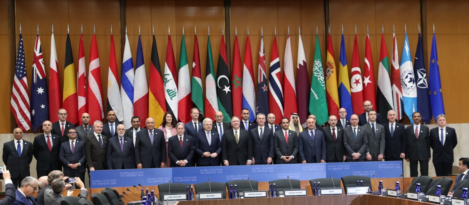 دولة قطر تشارك في الاجتماع الوزاري للمجموعات الصغيرة للتحالف الدولي لمكافحة داعش
