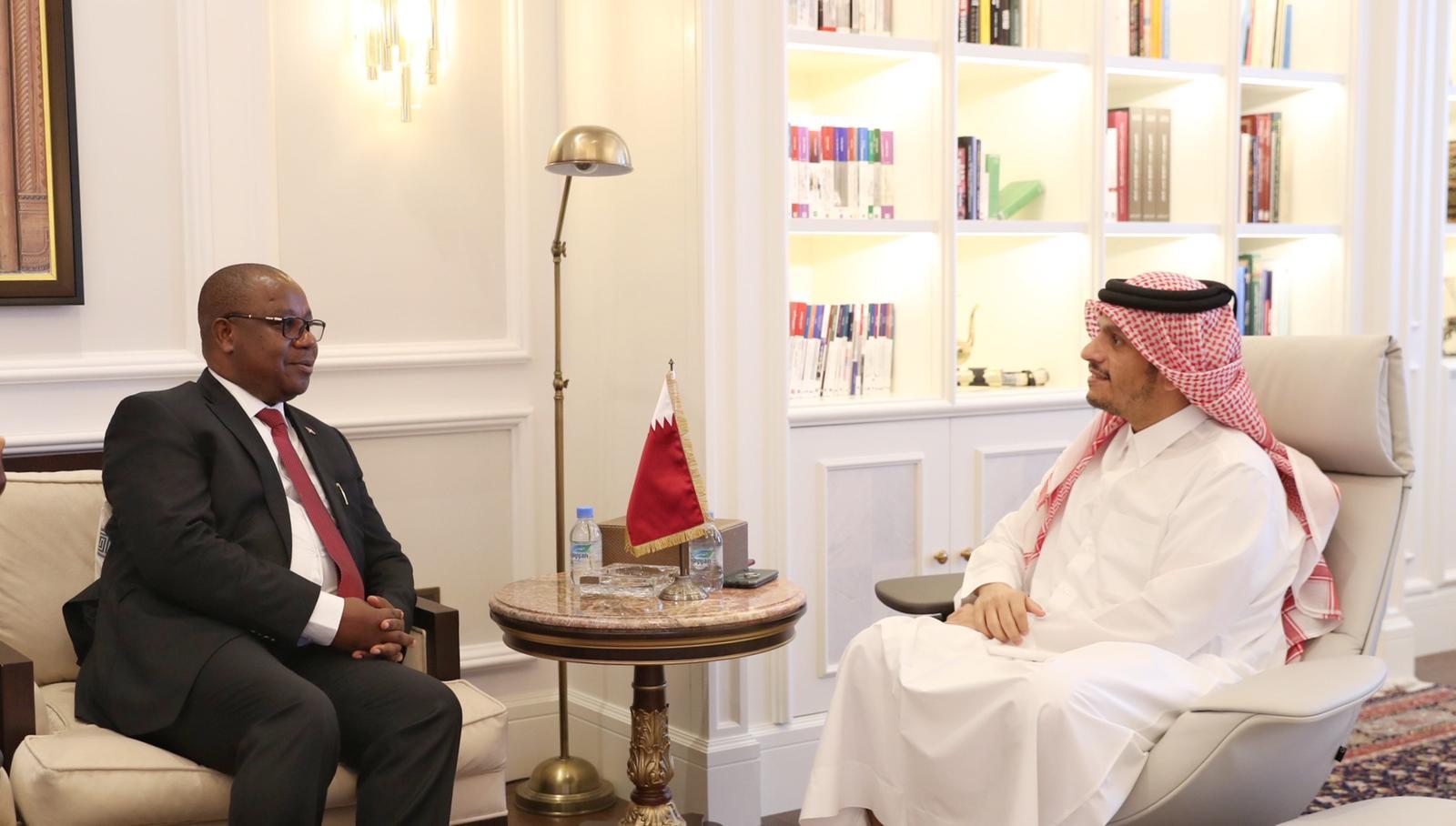 نائب رئيس مجلس الوزراء وزير الخارجية يجتمع مع وزير خارجية بوروندي