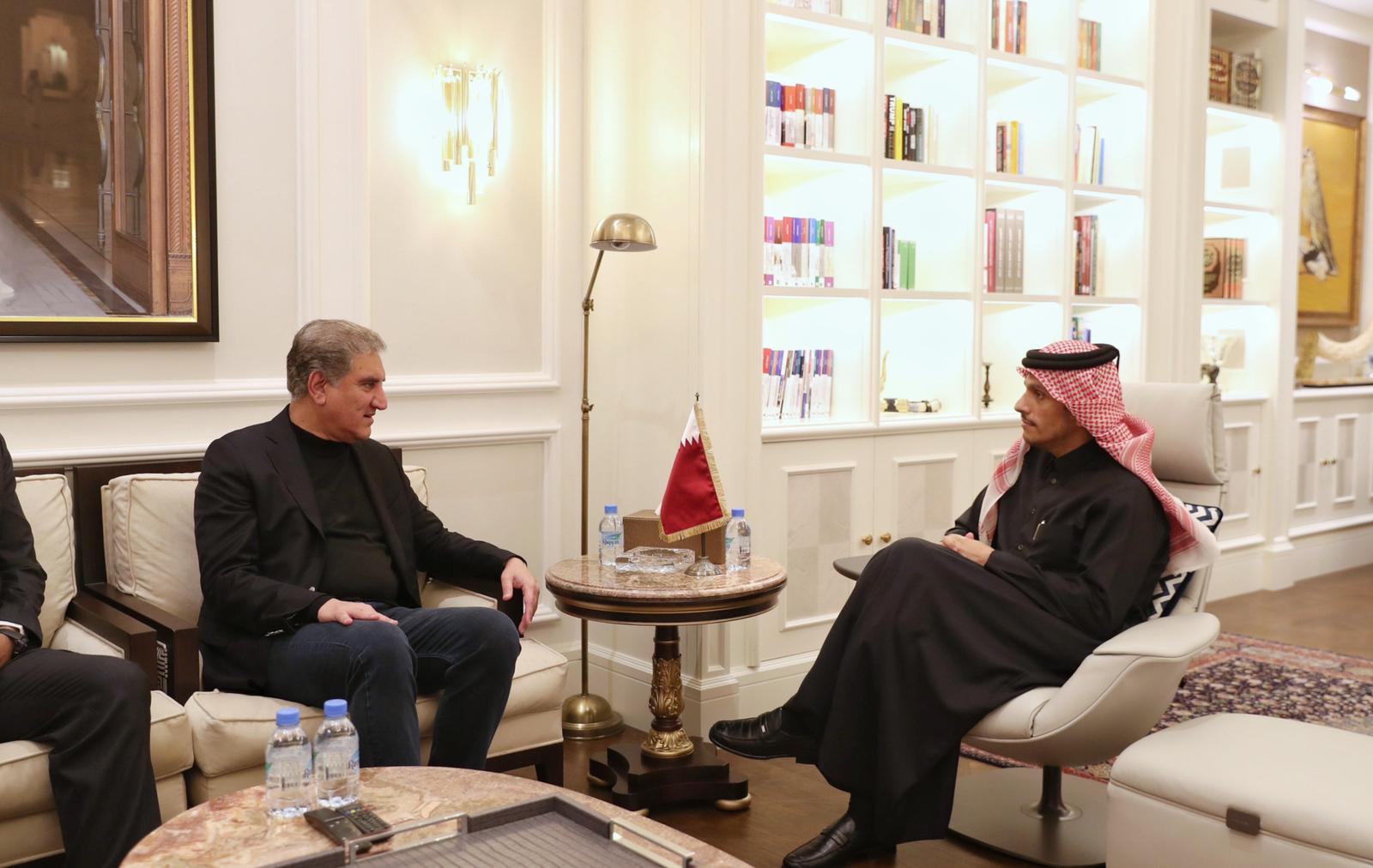 نائب رئيس مجلس الوزراء وزير الخارجية يجتمع مع وزير خارجية باكستان