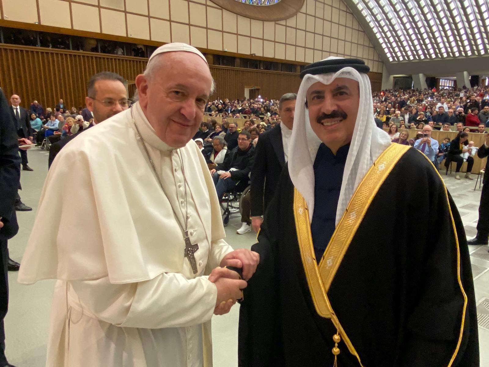 Pope Francis of Vatican Meets Qatar's Ambassador
