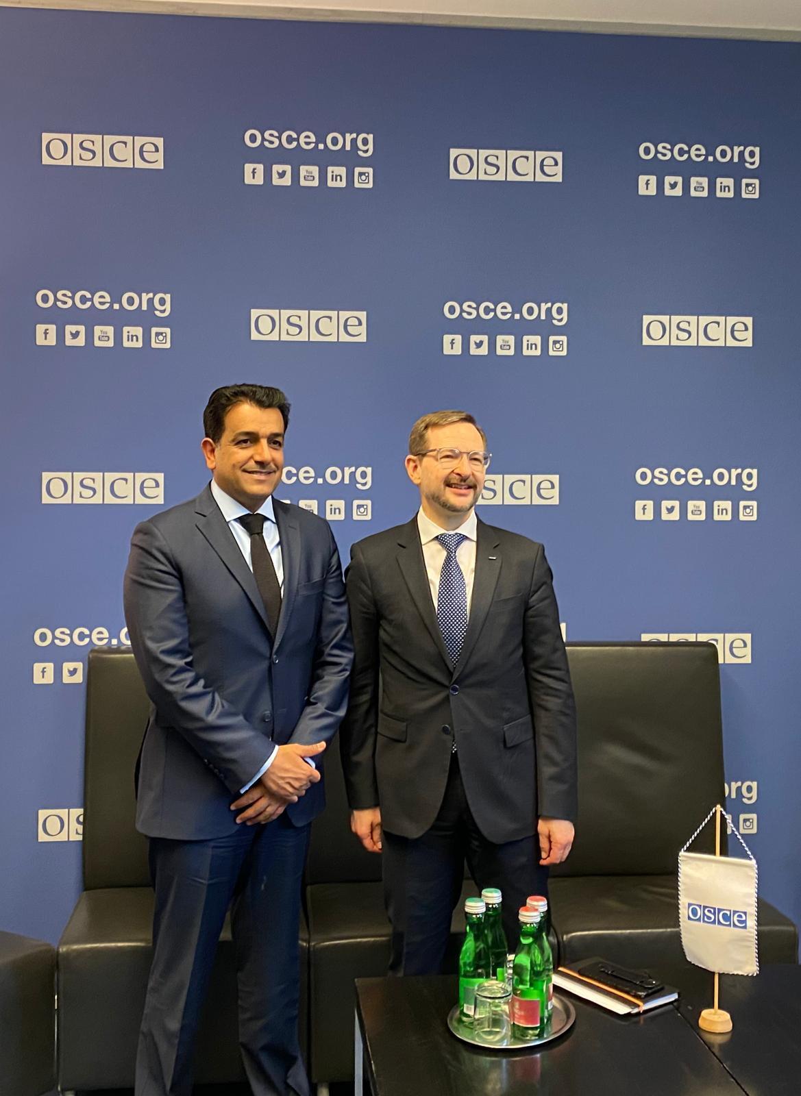 المبعوث الخاص لوزير الخارجية يلتقي السكرتير العام لمنظمة الأمن والتعاون في أوروبا