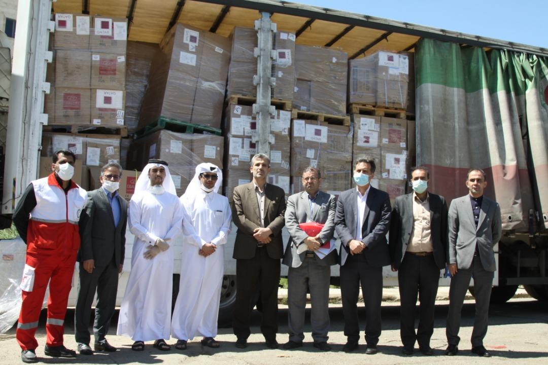 وصول الشحنة الثالثة من المساعدات الطبية المقدمة من دولة قطر لإيران